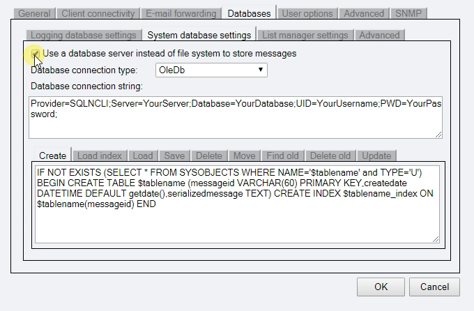Enable System Database